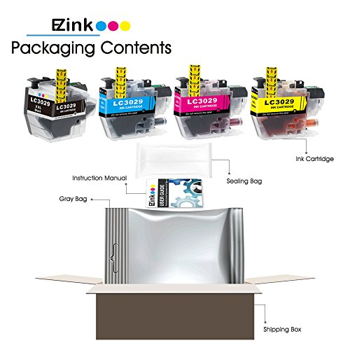 E-Z Ink (TM) Compatible Ink Cartridge for Brother LC3029 XXL (1 Black, 1 Cyan, 1 Magenta, 1 Yellow)4 Pack works with MFC-J5830DW MFC-J5830DWXL MFC-J5930DW MFC-J6535DW MFC-J6535DWXL MFC-J6935DW Photo #3