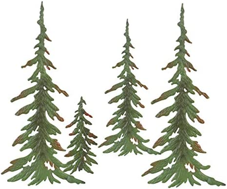 Besti Custom Pine Trees – 4 Tree Pine Grouping Metal Tree Sculpture – Metal Tree, Pine Tree, Outdoor Wall Decor Metal Art