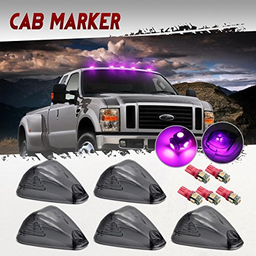 Partsam 5x Smoke Cab Marker Light Clearance Light 5x Pink Purple 5050 Smd 194 168 T10 Led Bulbs Replacement For 1999 2016 E150 E250 E350 E350 E450 F150 F250 F350 F450 F550 Pickup Trucks Super Duty
