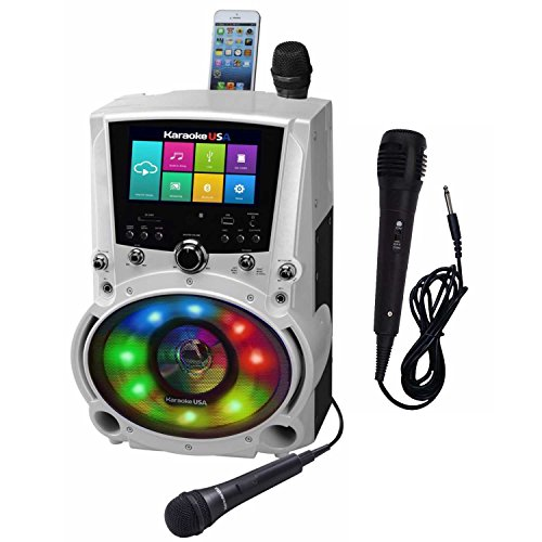 "Complete WiFi Karaoke Machine with Apps for Playing Music from Online Sites with 7"" Touch Screen Tablet with Additional Microphone Karaoke USA WK760"