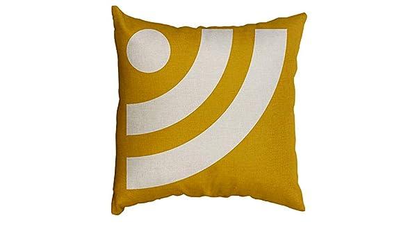 Fulijie - Funda de cojín de Lino y algodón, diseño ...