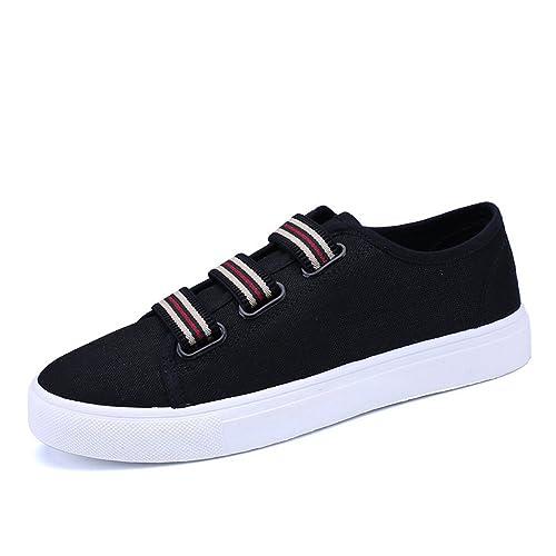 b52f86e8652850 Women Fashion Canvas Shoes Shallow-Mouth Casual Shoes Unisex Canvas Outdoor  Shoes(Black 39