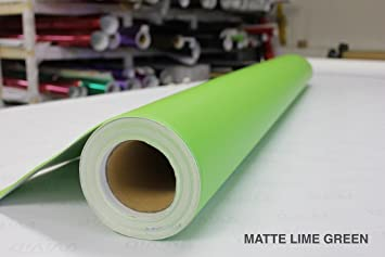 Matte Metallic Lime Green Premium Vinyl Wrap Film VViViD 1ft x 5ft