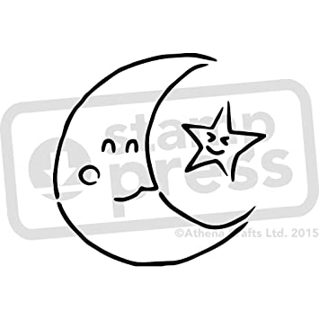 A3 \'Mond und Stern\' Wandschablone / Vorlage (WS00007455): Amazon.de ...