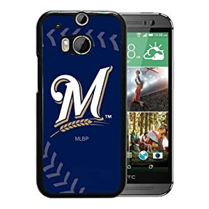 Host Sale HTC ONE M8 Case ,Fashion And Durable Designed With Milwaukee Brewers Black HTC ONE M8 Cover