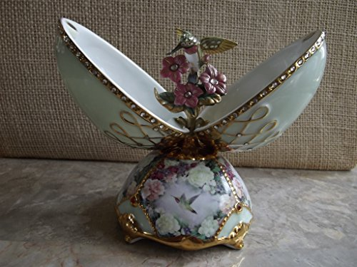 Lena Liu Garden Glory Hummingbird Musical Egg by The Bradford Exchange.