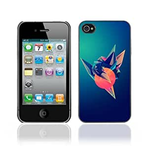 Designer Depo Hard Protection Case for Apple iPhone 4 4S / Cool Colorful Gradient Design