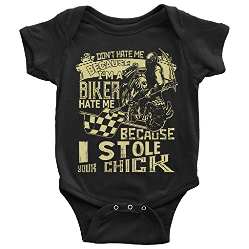 I'm A Biker Baby Bodysuit, I Stole Your Chick Baby Bodysuit (NB, Baby Bodysuit - -