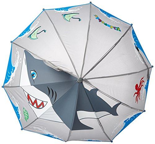 Kidorable-Shark-Grey-Umbrella-For-Boys-wFun-Hammerhead-Handle-Pop-Up-Fin-Ocean-Trim