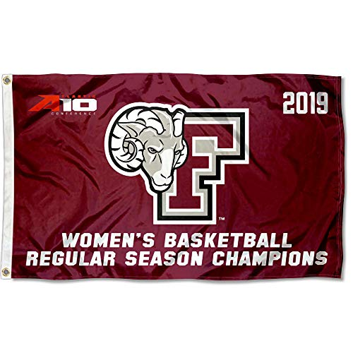 College Flags and Banners Co. Fordham Rams 2019 Womens A10 Basketball Champions Flag