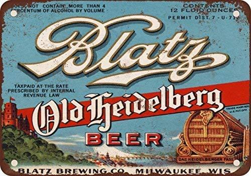 1933 Blatz Old Heidelberg Beer Vintage Look Reproduction Metal Tin Sign 8X12 inches