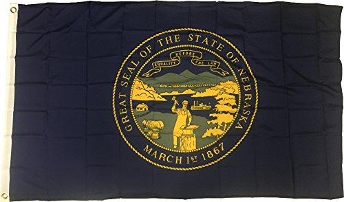 - New 3x5 Nebraska State Flag US USA American Flags