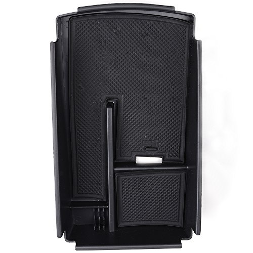 Price comparison product image Black Center Console Armrest Storage Compartment Box Tray Fit 2009-2015 Volkswagen Passat CC