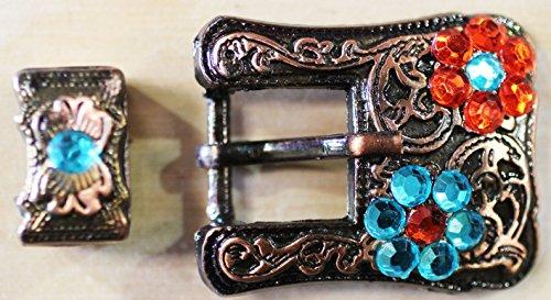 (PRORIDER Horse Set of 2 Belt Buckle Keeper Bridle Headstall 3/4