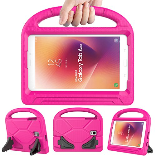 LEDNICEKER Kids Case for Samsung Galaxy Tab A 8.0 2017 - Light Weight Shock Proof Handle Friendly Convertible Stand Protective Case for Samsung Galaxy Tab A 8.0 2017 Release (SM-T380/T385) - Rose