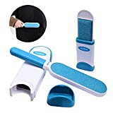 haomiao Professional Fur Remover, Pet Hair Cleaner and Lint Remover with Self, Sided Brush, Pet Fur Remover Tool Wizard Removes Dog and Cat Hair from Clothes and Furniture