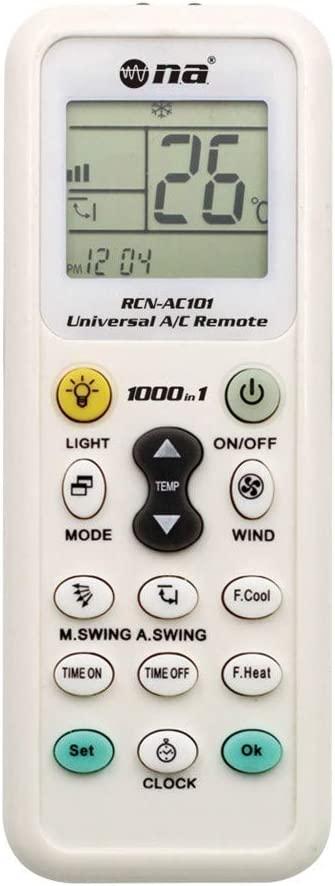 Nippon Universal Air Conditioner Remote AC Control LCD Air Conditioning Controller 1000 in 1 Compatible with Most Brands