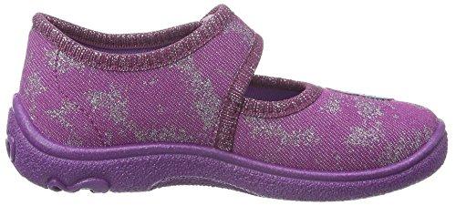 Superfit Mädchen Belinda 700288 Flache Hausschuhe Violett (BERRY 36)