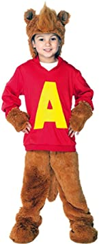 Alvin The Chipmunk Child Costume Size X Small Amazon Co Uk Toys Games