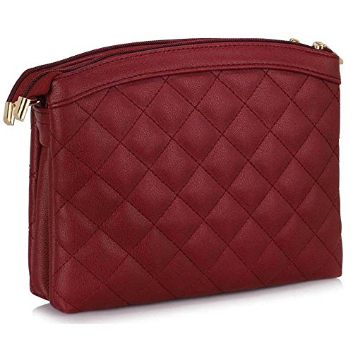 TrendStar - Bolsa Mujer A - Burgundy Cross Body Bag