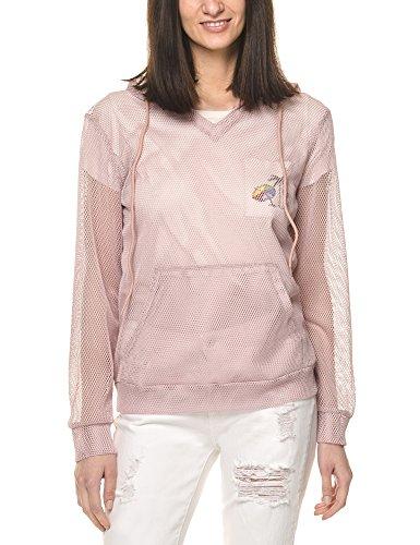 Glamorous Women's Women's Black Mesh Hoodie 100% Polyester Pink