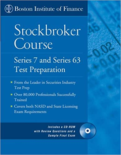 The Boston Institute of Finance Stockbroker Course: Series 7 and 63 ...