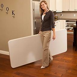 Lifetime 22900 Folding Utility Table, 6  Feet, Almond
