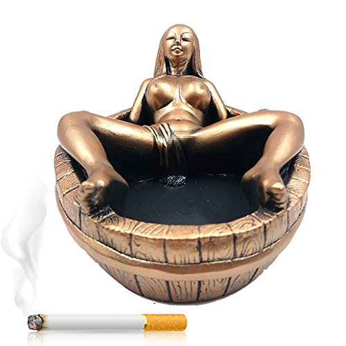 Max&Mix Creative Vintage Cigar Ashtray,Women Ash Tray Large Tabletop Decorative