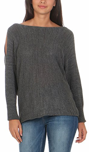 Femme 7335 Fonc Gris Malito Taille Could Unique Shoulder Chandail Pullover 4xIn7BqXUw