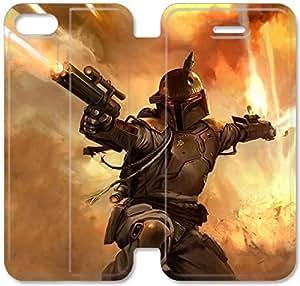 Caso de cuero del tirón 5,5 Boba Fett Battlefront M8E78A2 iPhone 6 6S Plus funda R2F65P6 armadura del fundas de cuero del teléfono