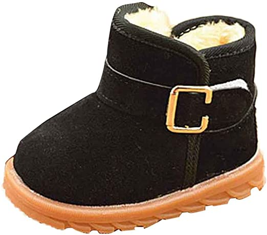 Voberry Baby Boy Girls Tassels Ankle High Leather Boots Crib Shoes