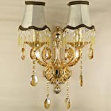 SJUN—European Crystal Bedside Wall Lamps Minimalist Bedroom Living Room Hallway Staircase Lighting,B