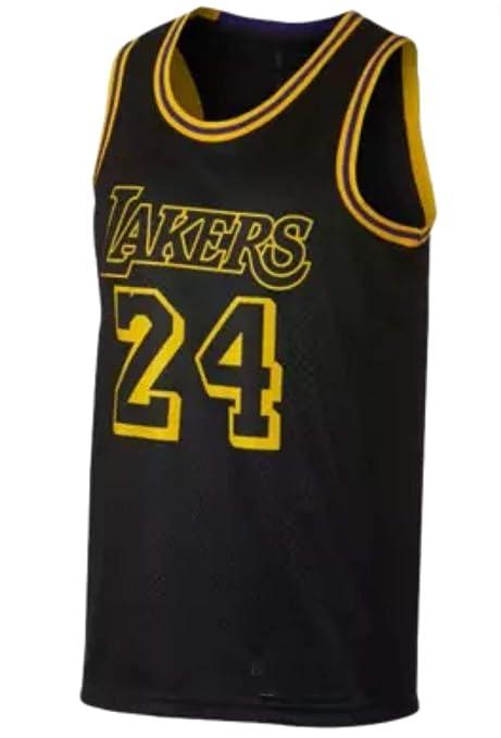 CRBsports Kobe Bryant, Baloncesto Jersey, Lakers, Negro, Ciudad Edicion, Tejido Bordado