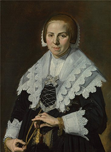 Oil Painting 'Frans Hals - Portrait Of A Woman With A Fan,about 1640', 16 x 22 inch / 41 x 56 cm , on High Definition HD canvas prints is - Windsor Frames Eyeglass