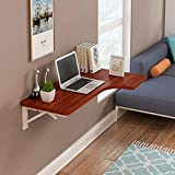 WLDD Wall-Mounted Folding Table Dining Table Drop Leaf Computer Desk Note Desk ( Color : C , Size : 120*60*40cm )