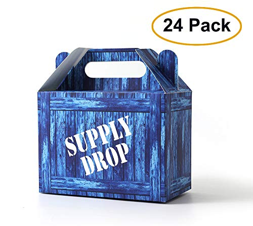 SUYEPER Game Party Box Party Supply Drop Box For Birthday Party Supplies Favors (24 Pack)]()