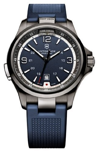 Victorinox Swiss Army Blue Dial Stainless Steel Rubber Quartz Men's Watch 249069