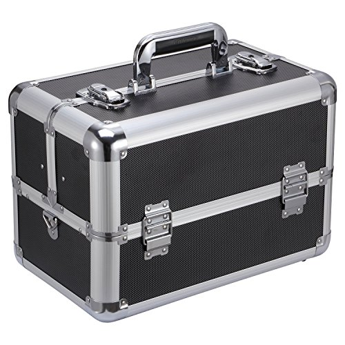 "Ollieroo Makeup Train Case Professional 14.4"" x 8.7"" x 9.8"""