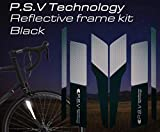 ATPC Japan Reflective Frame Kit A Set of Reflective Labels corresponding to All Kinds of Bicycle Frames Improve Safety of Night Driving of Road Bike, MTB, P.S.V Technology (Black)