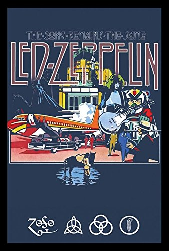 buyartforless IF GB LP1605 36x24 1.25 Black Framed Led Zeppelin The Song Remains The Same 36X24 Music Art Print Poster Wall Decor Classic Image (Poster Music Led Zeppelin)