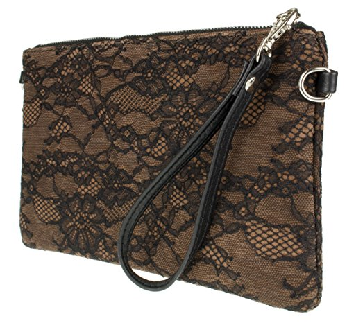 Clutch Girly Leather Taupe Suede Bag Lace HandBags Girly Italian HandBags vw0qrvZ