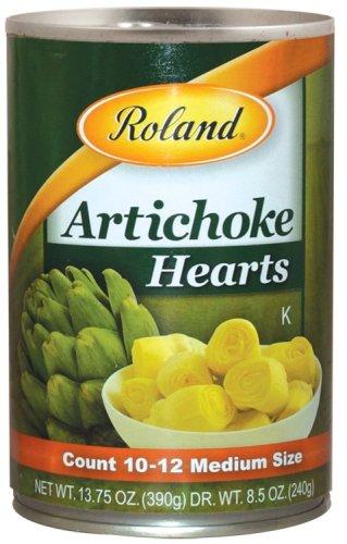 Roland Foods Artichoke Hearts, Medium, 13.75 Ounce (Pack of 12)
