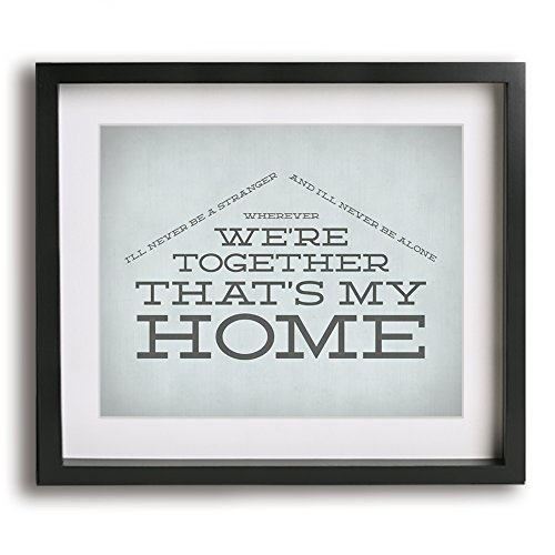 Rock Billy Songs - You're My Home | Billy Joel inspired song lyric art print - makes a great anniversary gift idea!