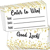 100 Raffle Tickets 3.5'x2' - Enter to Win Entry Form Cards for Giveaway Contest, Raffles, Ballot Box, 50/50, Auction and More - with Space for Name, Email Address and Phone Number Fields