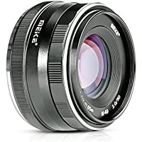 Meike MK-E-50-2.050mm f/2.0Fixed Manual Focus Lens for Sony E mount Mirrorless Camera a6300/a6000/a5100/a5000/NEX7/NEX6/NEX5n/NEX5r/NEX5t/NEX5/NEX3/NEX3N with Voking Lens Cleaning Cloth