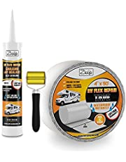 Ziollo RV Flex Repair Tape - Roof Seam Tape to Seal and Waterproof, Bond to EPDM Rubber with Butyl Sealant, Seal Vents and Skylights on Motorhomes, Trailers, Campers