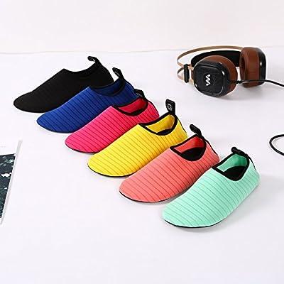 SENFI Lightweight Quick-Dry Water Shoes for Water Sport Beach Pool Camp (Men, Women, Kids), BLS01, b.Black, 30.31   Water Shoes