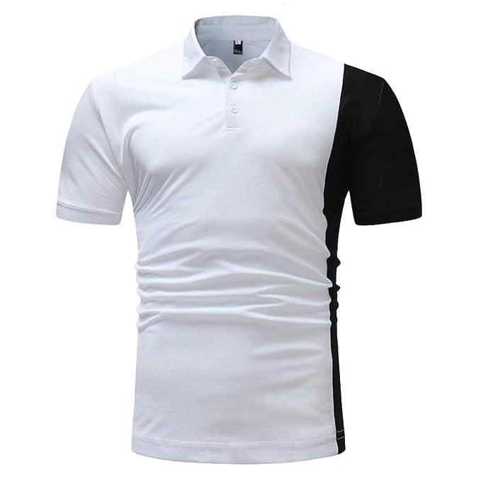 Hombre Camisa De Polo para Camisa De Corte Slim para Chic ...