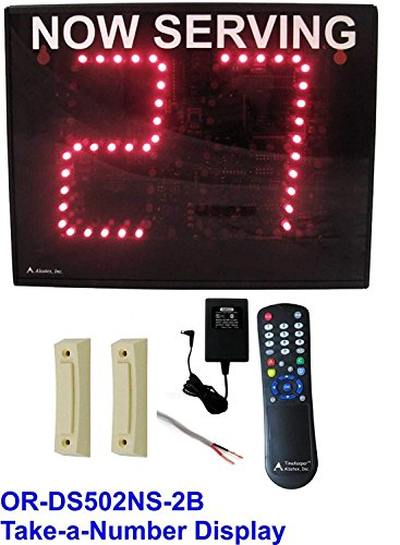 2-Digit Take-a-number System with 2 buttons and Infrared remote