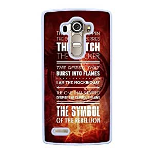 Grouden R Create and Design Phone Case,The Hunger Games Catching Fire Cell Phone Case for LG G4 White + 1*Touch Stylus Pen (Free) GHL-2877207